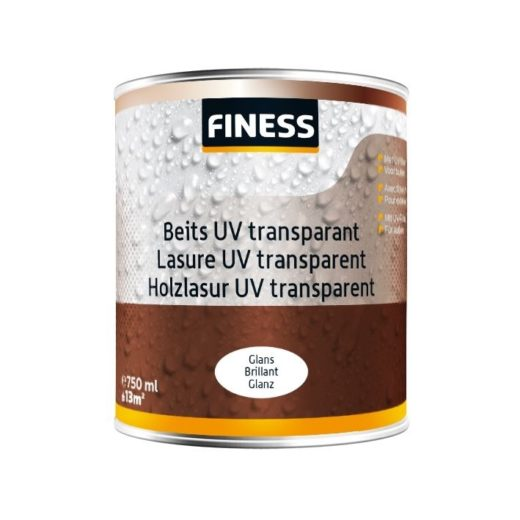 Finess Beits UV Transparant Glans 2,5 Liter Kleurloos