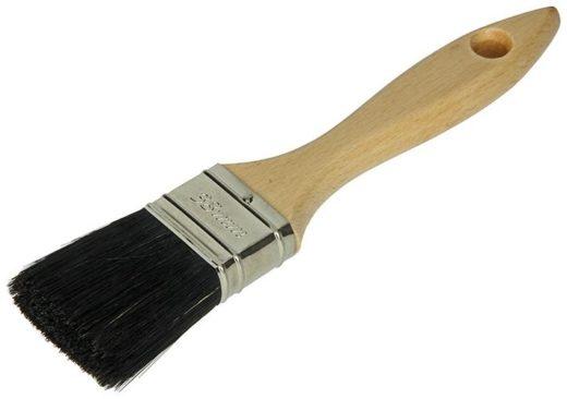 Anza platte kwast geverniste houten steel 196